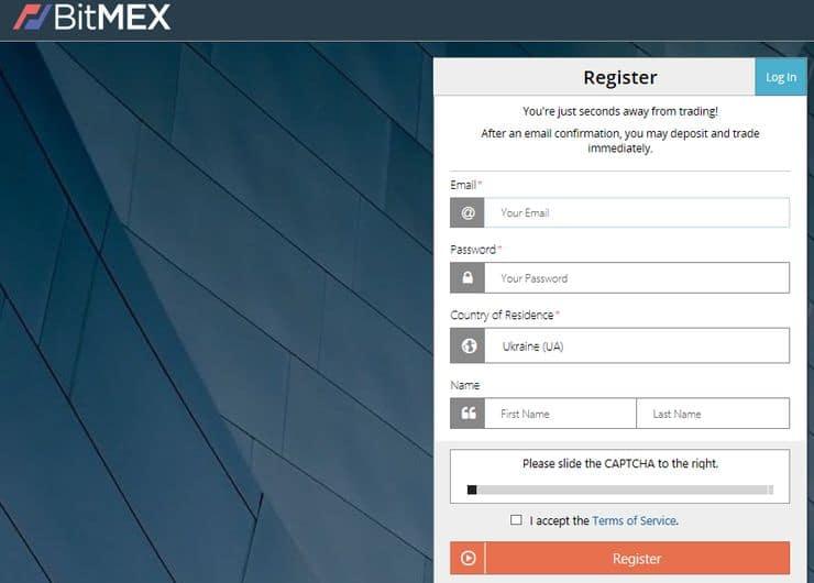 Регистрация на бирже Bitmex