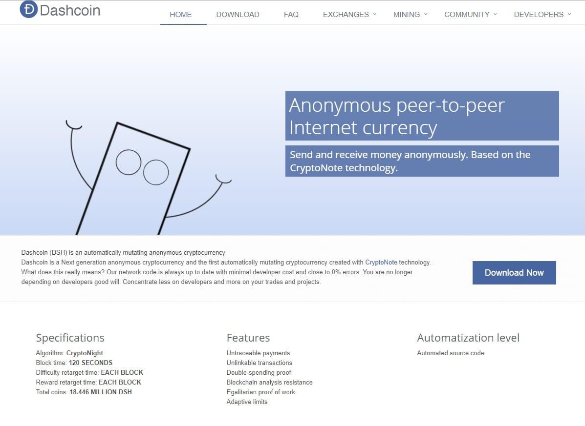 Официальный сайт Dashcoin